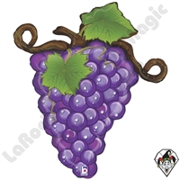 31 Inch Shape Linky Grapes Purple Foil Balloon Betallatex 1ct