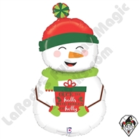 40 Inch Shape Holiday Snowman Foil Balloon Betallic 1ct
