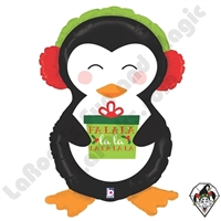 34 Inch Shape Holiday Penguin Foil Balloon Betallic 1ct
