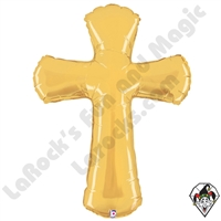 44 Inch Shape Cross Foil Balloon Betallatex 1ct
