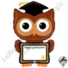46 Inch Shape ReMARKables Owl Grad Balloon Betallatex 1ct