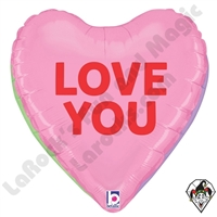 23 Inch Dimensional Conversation Hearts Foil Balloon Betallic 1ct