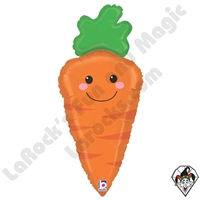 31 Inch Shape Produce Pals Carrot Foil Balloon Betallatex 1ct