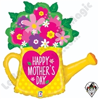 32 Inch Shape Mother's Day Garden Watering Can Foil Balloon Betallic 1ct