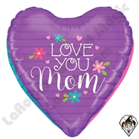 23 Inch Dimensional Mother's Day Hearts Foil Balloon Betallic 1ct