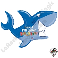 39 Inch Shape Birthday Shark Foil Balloon Betallic 1ct