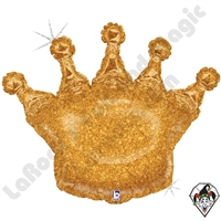 36 Inch Shape Glittering Crown Foil Balloon Betallic 1ct
