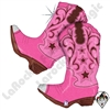 36 Inch Shape Pink Dancing Boots Foil Balloon Betallatex 1ct