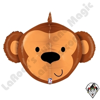 27 Inch Dimensional Monkey Foil Balloon Betallic 1ct