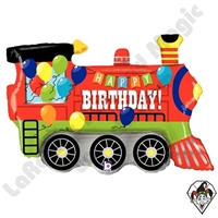 37 Inch Shape Birthday Party Train Foil Balloon Betallic 1ct