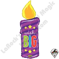 41 Inch Shape Mighty Bright Birthday Candle Non-Foil Balloon Betallic 1ct