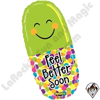 29 Inch Shape Mighty Bright Feel Better Pill Non-Foil Balloon Betallic 1ct