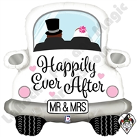 31 Inch Shape Happily Ever After Car Foil Balloon Betallatex 1ct