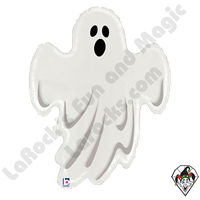 28 Inch Shape Spooky Ghost Foil Balloon Betallatex 1ct