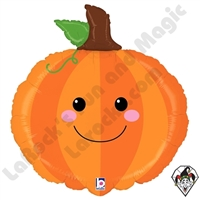 29 Inch Shape Produce Pals Pumpkin Foil Balloon Betallic 1ct