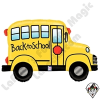 32 Inch Shape Back To School Bus Foil Balloon Betallatex 1ct