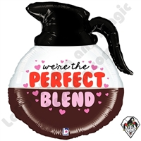 26 Inch Shape Perfect Blend Coffee Foil Balloon Betallatex 1ct