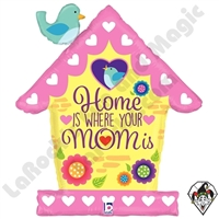 33 Inch Shape Birdhouse Mom Foil Balloon Betallatex 1ct