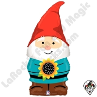 34 Inch Shape Garden Gnome Foil Balloon Betallatex 1ct