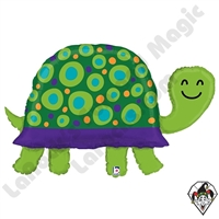 40 Inch Shape Garden Turtle Foil Balloon Betallic 1ct