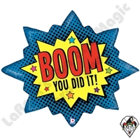 32 Inch Shape Boom! You Did It! Foil Balloon Betallic 1ct