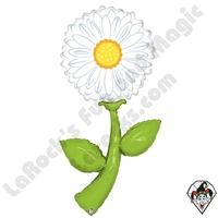 60 Inch Shape Fresh Picks White Daisy Foil Balloon Betallic 1ct