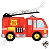 40 Inch Shape Fire Truck Foil Balloon Betallatex 1ct