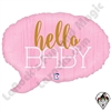 24 Inch Shape Hello Baby Pink Foil Balloon Betallatex 1ct