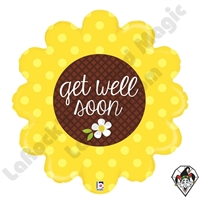 29 Inch Shape Get Well Sunflower Foil Balloon Betallatex 1ct