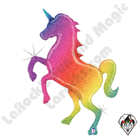 54 Inch Shape Unicorn Foil Balloon Betallic 1ct
