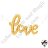 47 Inch Shape Love Script Gold Foil Balloon Betallatex 1ct