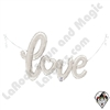 47 Inch Shape Love Script Silver Foil Balloon Betallatex 1ct