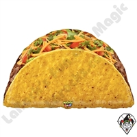 32 Inch Shape Mighty Bright Taco Non-Foil Balloon Betallatex 1ct