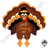30 Inch Shape Turkey Day Foil Balloon Betallatex 1ct