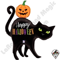 44 Inch Shape Halloween Black Cat Foil Balloon Betallatex 1ct