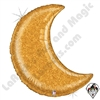 42 Inch Shape Glitter Moon Gold Foil Balloon Betallatex 1ct
