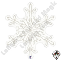 38 Inch Shape Clear Snowflake Foil Balloon Betallic 1ct