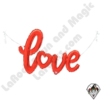 47 Inch Shape Love Script Red Foil Balloon Betallic 1ct