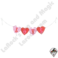 41 Inch Shape Love Bunting Foil Balloon Betallic 1ct