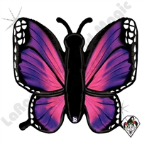 46 Inch Shape Radiant Butterfly Pink Holographic Foil Balloon Betallatex 1ct