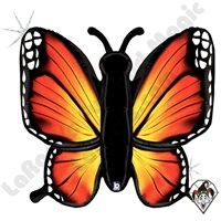 46 Inch Shape Radiant Butterfly Orange Holographic Foil Balloon Betallatex 1ct