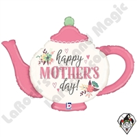 35 Inch Shape Mother's Day Vintage Teapot Foil Balloon Betallatex 1ct