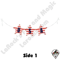 37 Inch Shape USA Bunting Foil Balloon Betallatex 1ct