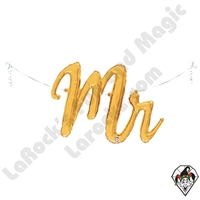 39 Inch Shape Mr. Script Foil Balloon Betallatex 1ct