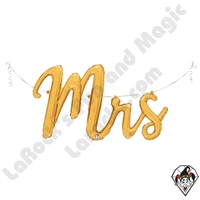 44 Inch Shape Mrs. Script Foil Balloon Betallatex 1ct