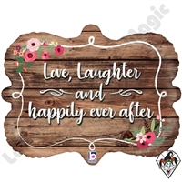 30 Inch Shape Happily Ever After Frame Foil Balloon Betallic 1ct