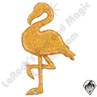53 Inch Shape Gold Glitter Flamingo Foil Balloon Betallatex 1ct
