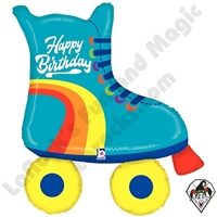 39 Inch Shape Roller Skate Birthday Foil Balloon Betallic 1ct