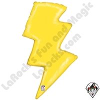 36 Inch Shape Lightning Bolt Foil Balloon Betallatex 1ct
