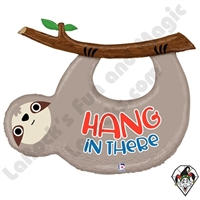 42 Inch Shape Hang In There Sloth Foil Balloon Betallatex 1ct